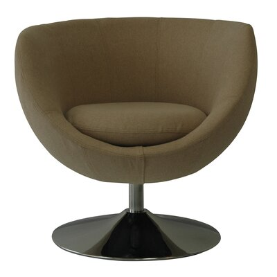 Globus Disc Base Barrel Chair Upholstery: Dune