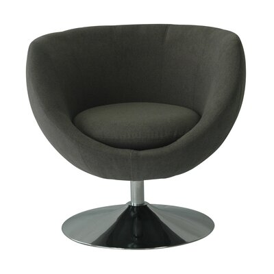Globus Disc Base Barrel Chair Upholstery: Ash