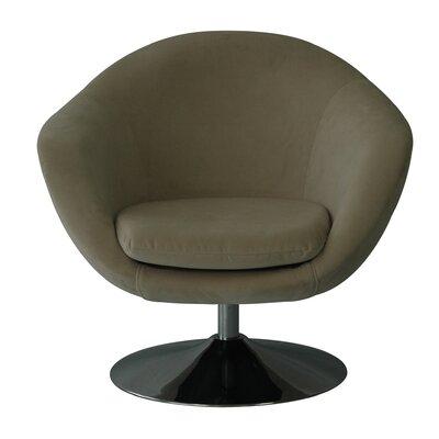 Comet Disc Base Bella Barrel Chair Upholstery: Buckwheat