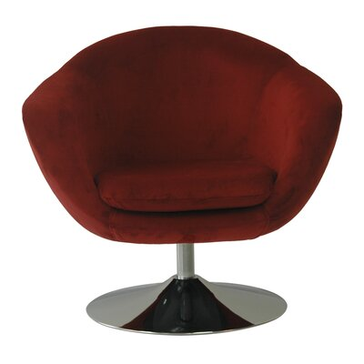 Comet Disc Base Bella Barrel Chair Color: Berry