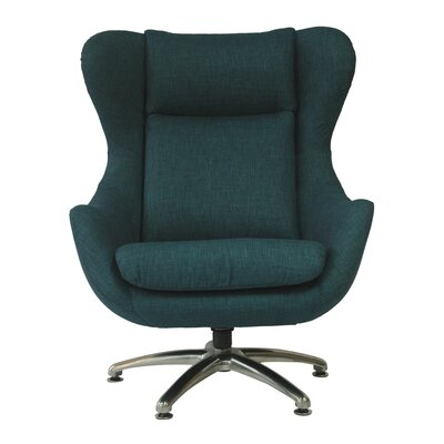 Commander Wing back Chair Color: Peacock