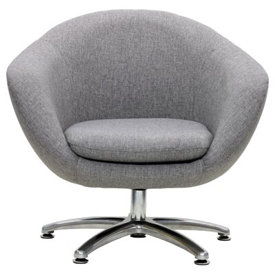 Overman Five Prong Base Comet Barrel Chair Upholstery: Light Gray