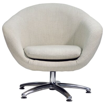 Overman Five Prong Base Comet Barrel Chair Color: Oatmeal