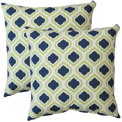 Premiere Home Curtis Throw Pillow Color: Canal Green / Blue