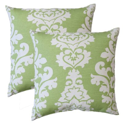 Premiere Home Damask Throw Pillow Color: Kiwi Green