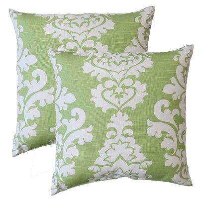 Premiere Home Damask Throw Pillow Color: Kiwi Green