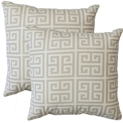 Premiere Home Greek Key Throw Pillow Color: Grey