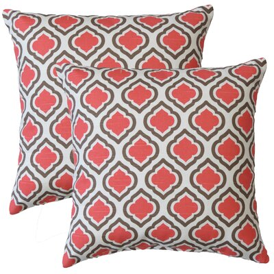 Premiere Home Curtis Throw Pillow Color: Medallion Coral / Tan