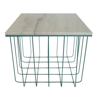 Emery End Table Finish: Teal