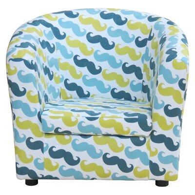 Hatton Kids Arm Chair Color: Capri Mustache