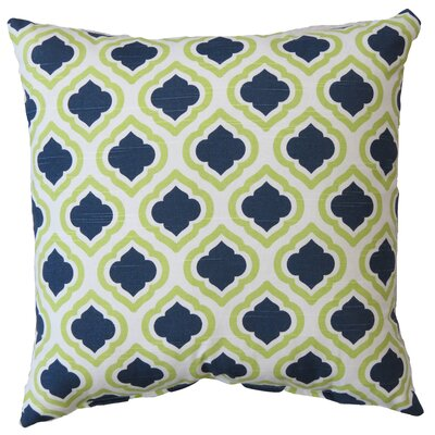 Curtis Cotton Throw Pillow Color: Canal