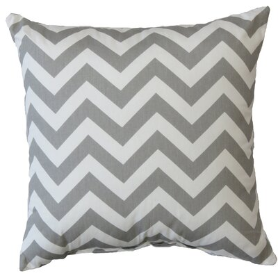 Chevron Cotton Throw Pillow Color: Storm