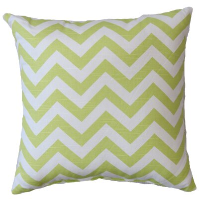 Chevron Cotton Throw Pillow Color: Canal Green
