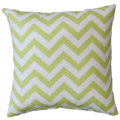 Chevron Cotton Throw Pillow Color: Canal Green