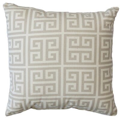 Greek Key Cotton Throw Pillow Color: Gray