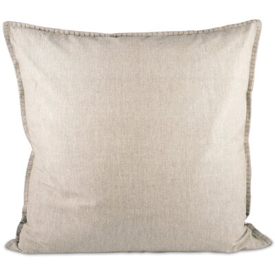Chambray Throw Pillow Color: Cream