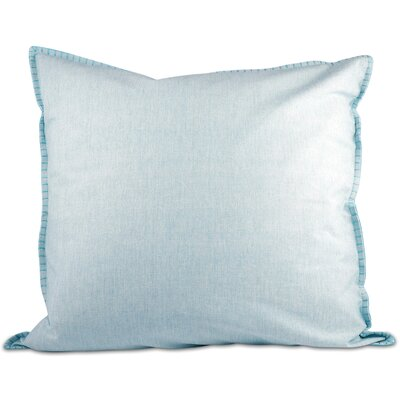Chambray Throw Pillow Color: Blue
