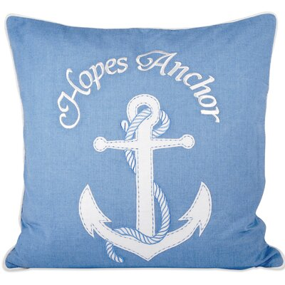 Hopes Anchor Throw Pillow