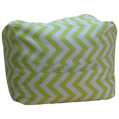 Premiere Home Chevron Ottoman Upholstery: Green