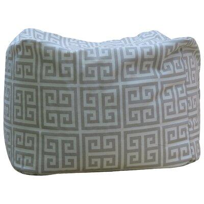 Premiere Home Greek Key Pouf Upholstery: Blue