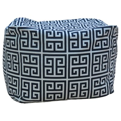 Premiere Home Greek Key Pouf Upholstery: Gray