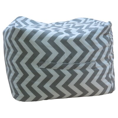 Premiere Home Chevron Ottoman Upholstery: Storm