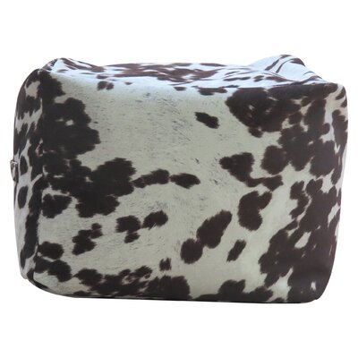 Rolf Cowhide Pouf Footstool Ottoman