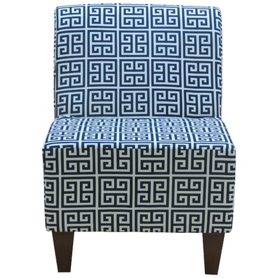 Penelope Armless Towers Blue Slipper Chair