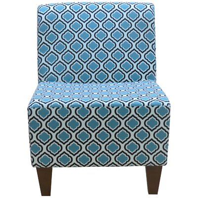 Penelope Armless Curt Medallion Slipper Chair Upholstery: Blue