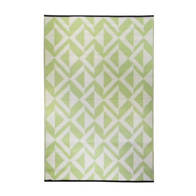 Premier Home Hand-Woven Green/White Indoor/Outdoor Area Rug