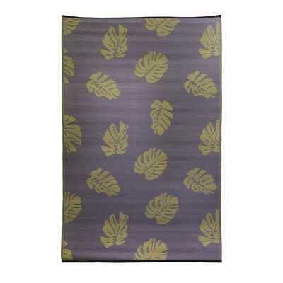 Premiere Home Hand-Woven Purple/Tan Indoor/Outdoor Area Rug