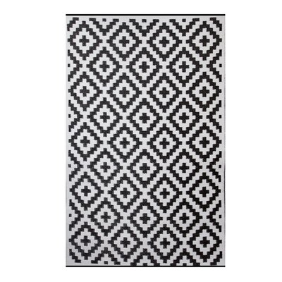Premier Home Hand-Woven Black/White Indoor/Outdoor Area Rug