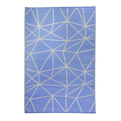 Premier Home Hand-Woven Blue/White Indoor/Outdoor Area Rug