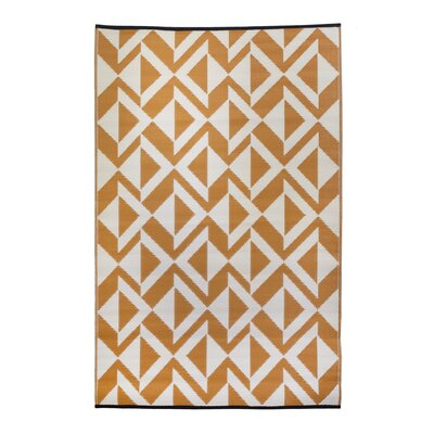 Premier Home Hand-Woven Orange/White Indoor/Outdoor Area Rug
