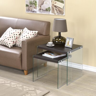 Millenial 2 Piece Nesting Tables Finish: Brown