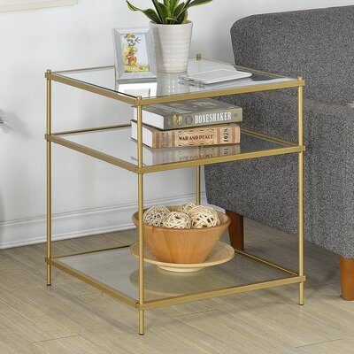 Alvar Contemporary Square End Table