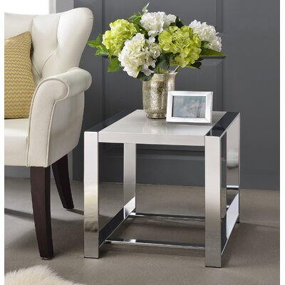 Lauritz End Table Color: White