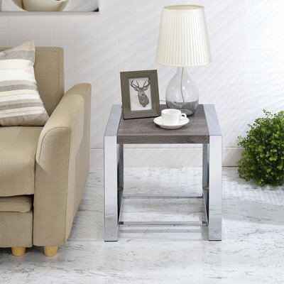 Lauritz End Table Color: Gray