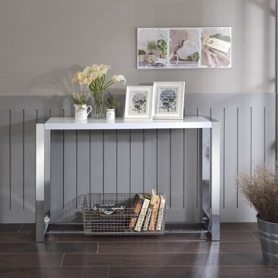 Lauritz Console Table Finish: White