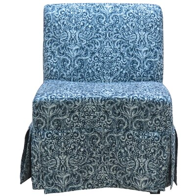 Penelope Skirted Armless Slipper Chair Upholstery: Navy