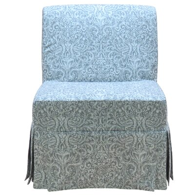 Penelope Skirted Armless Slipper Chair Color: Gray