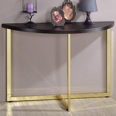 Millenial Console Table Finish: Gold