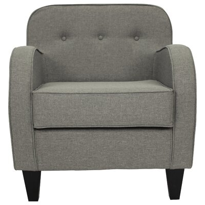 Bridgette Tufted Armchair Upholstery: Quartz