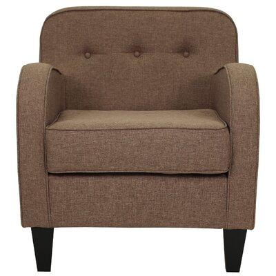 Bridgette Tufted Armchair Upholstery: Pecan