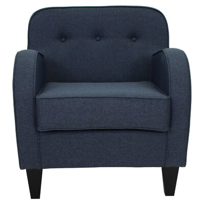 Bridgette Tufted Armchair Upholstery: Navy Blue