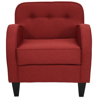 Bridgette Tufted Armchair Upholstery: Picante