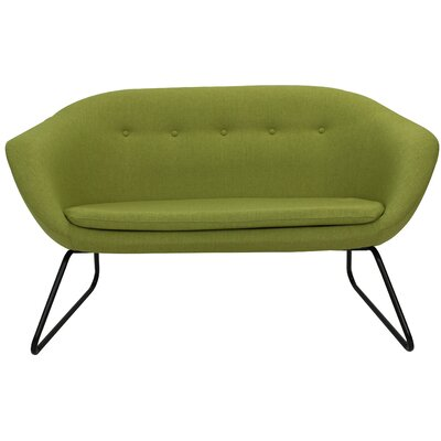 Cessnock Tufted Settee Upholstery: Grasscloth Green