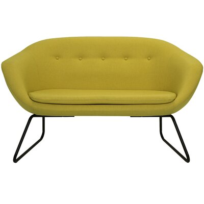Cessnock Tufted Settee Upholstery: Golden Yellow