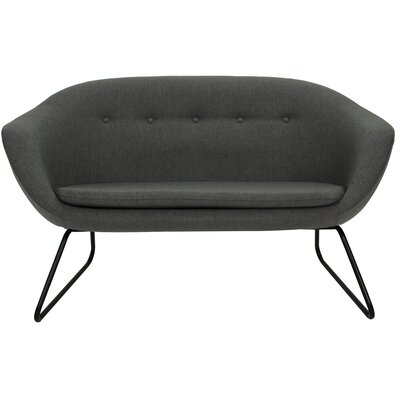 Cessnock Tufted Settee Upholstery: Charcoal