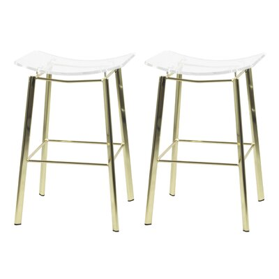 Dru 24 Bar Stool Finish: Gold